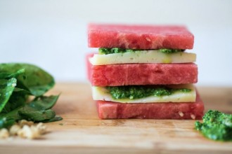 Food Republic Watermelon Manchego Stack