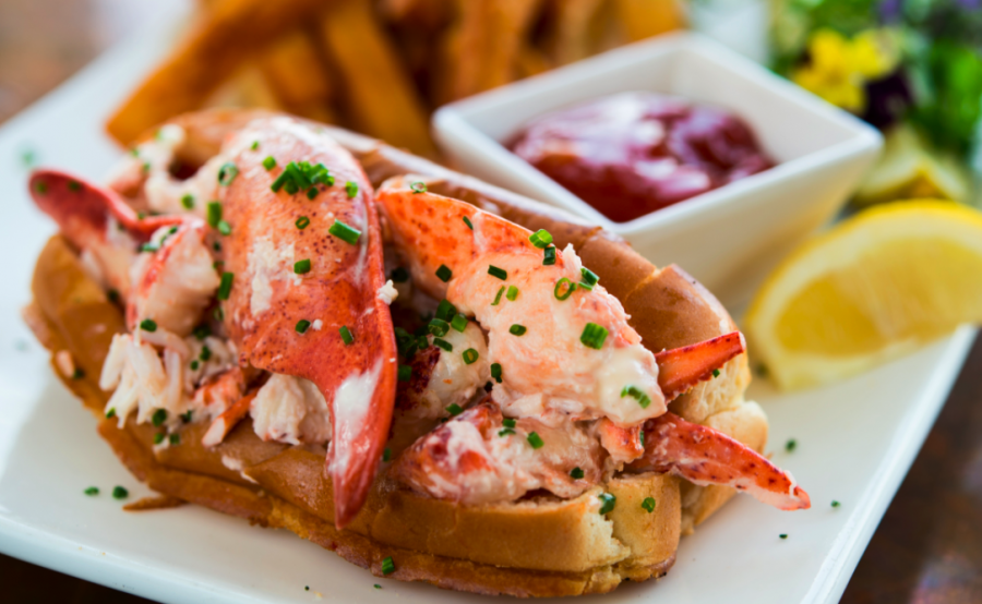 Sam Talbots Butter Poached Lobster Roll