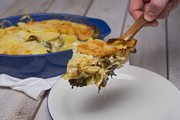 Spinach-Artichoke Scalloped Potatoes