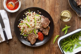 hero__Lamb_Chops_with_Pearled_Couscous__Snap_Peas__and_Harissa_hero