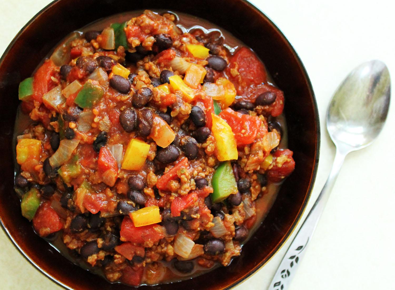 Black Bean Yellow Pepper And Cumin Chili