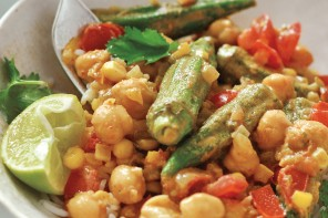 Okra-Corn-Tomato-Curry