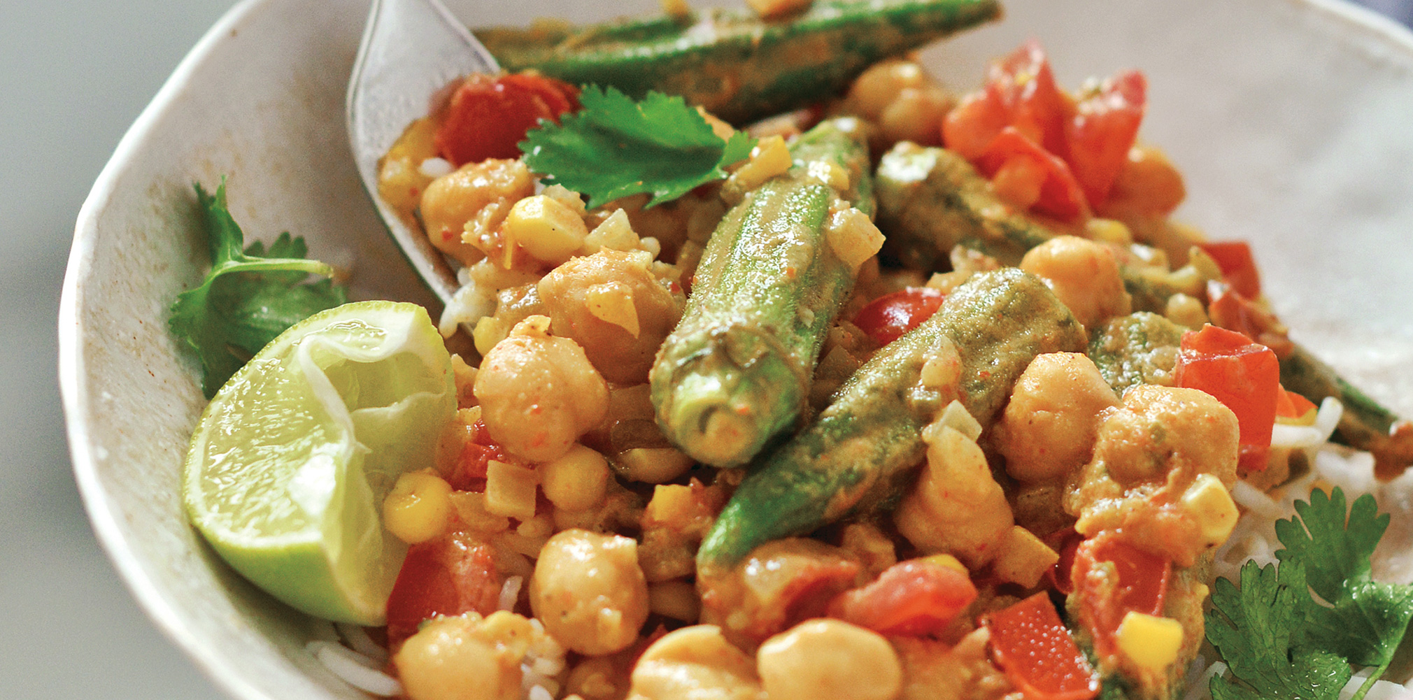 Okra, Sweet Corn, and Tomato Curry - The Vegetable Butcher
