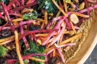 beet-slaw-with-pistachios-and-raisins