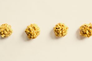 Coconut Curry Popcorn Balls