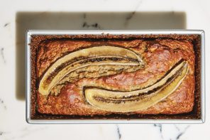 Coconut Banana Bread with Ginger & Flaxseeds